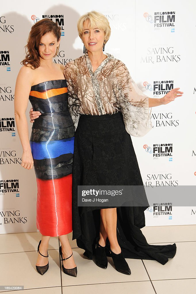 <a gi-track='captionPersonalityLinkClicked' href=/galleries/search?phrase=Ruth+Wilson&family=editorial&specificpeople=3111655 ng-click='$event.stopPropagation()'>Ruth Wilson</a> and <a gi-track='captionPersonalityLinkClicked' href=/galleries/search?phrase=Emma+Thompson&family=editorial&specificpeople=202848 ng-click='$event.stopPropagation()'>Emma Thompson</a> attend the Closing Night Gala European Premiere of 'Saving Mr Banks' on the closing night gala during the 57th BFI London Film Festival at The Odeon Leicester Square on October 20, 2013 in London, England.