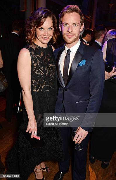Ruth Wilson and Luke Treadaway attend an after party following the Laurence Olivier Awards at The Royal Opera House on April 13 2014 in London England