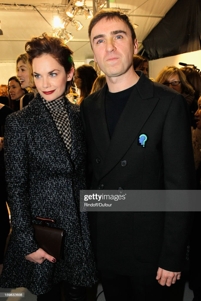 Ruth Wilson and Raf Simons attend the Christian Dior Spring/Summer 2013 Haute-Couture show as part of Paris Fashion Week on January 21, 2013 in Paris, France.