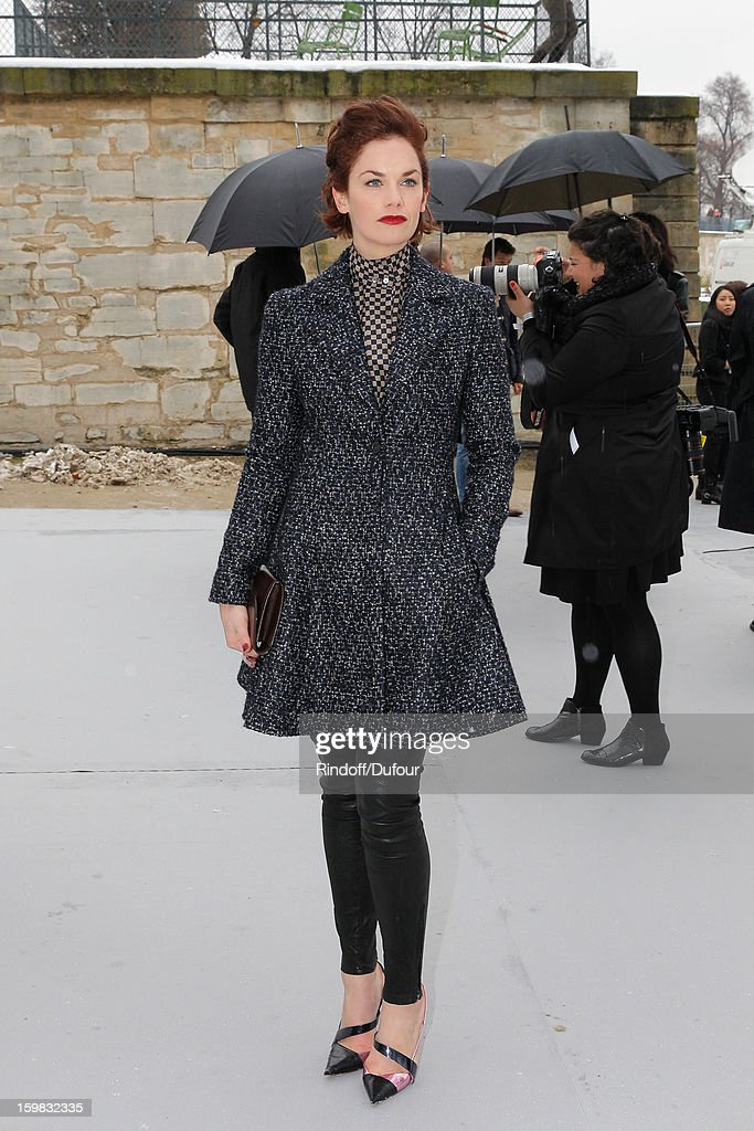 <a gi-track='captionPersonalityLinkClicked' href=/galleries/search?phrase=Ruth+Wilson+-+Actress&family=editorial&specificpeople=3111655 ng-click='$event.stopPropagation()'>Ruth Wilson</a> arrives to attend the Christian Dior Spring/Summer 2013 Haute-Couture show as part of Paris Fashion Week at on January 21, 2013 in Paris, France.