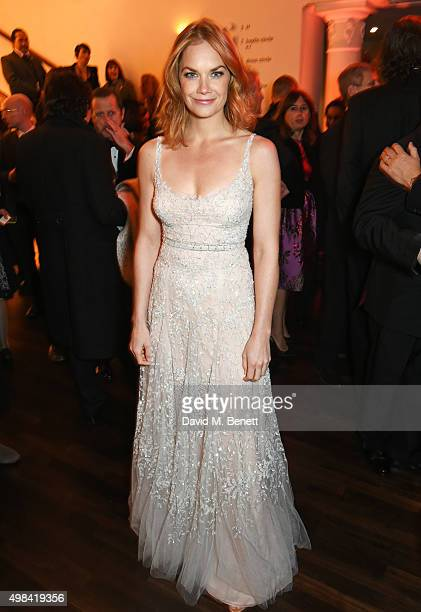 Ruth Wilson attends a champagne reception ahead of The London Evening Standard Theatre Awards in partnership with The Ivy at The Old Vic Theatre on...