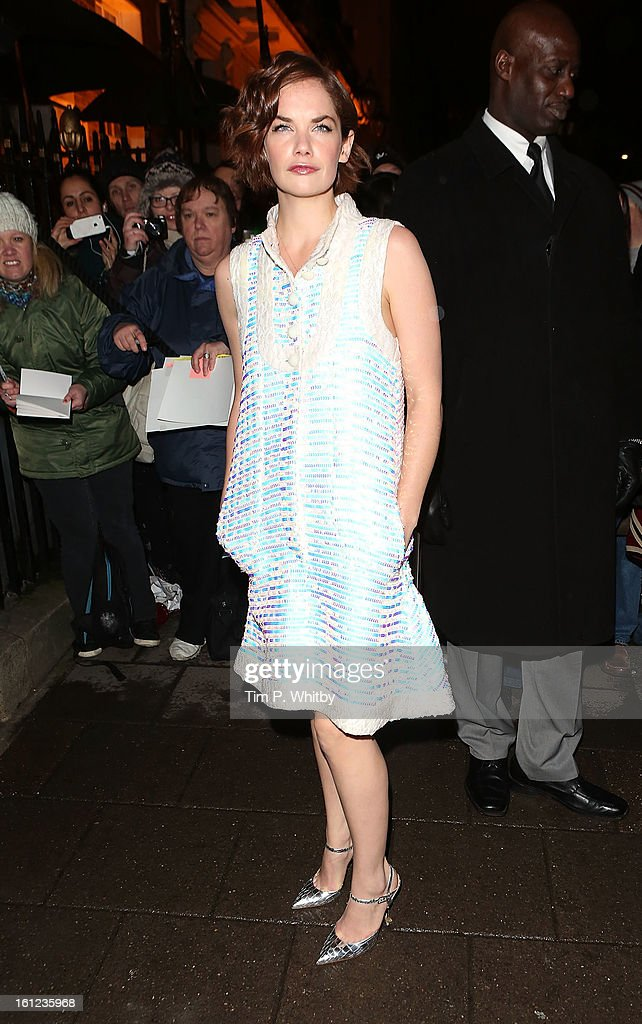 Ruth Wilson attends the Charles Finch and Chanel pre-BAFTA dinner at Annabels on February 9, 2013 in London, England.