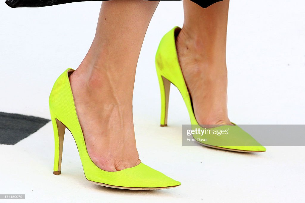 Ruth Wilson (shoe detail) attends the premiere of 'The Lone Ranger' at Odeon Leicester Square on July 21, 2013 in London, England.