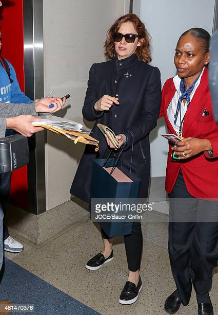 Ruth Wilson is seen at LAX on January 12 2015 in Los Angeles California