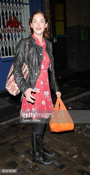 Ruth Wilson leaves the Donmar Warehouse Theatre on October 3 2009 in London England