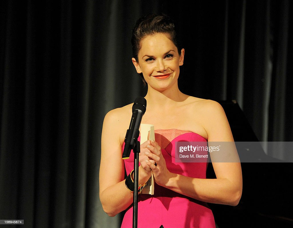 Ruth Wilson presents the Best Actor award at the 58th London Evening Standard Theatre Awards in association with Burberry at The Savoy Hotel on November 25, 2012 in London, England.