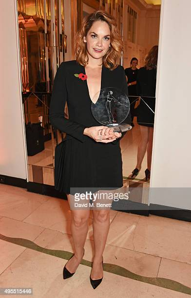 Ruth Wilson winner of the Outstanding Performance award attends the Harper's Bazaar Women of the Year Awards 2015 at Claridges Hotel on November 3...