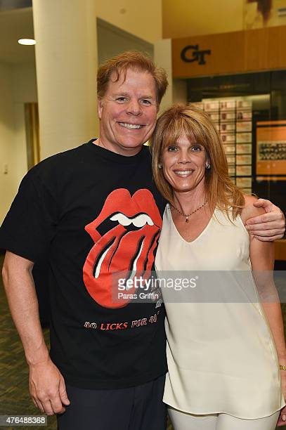 Rutherford Seydel and Laura Turner Seydel attend Rolling Stone Chuck Leavell Friends PreConcert VIP Party at Bobby Dodd Stadium on June 9 2015 in...