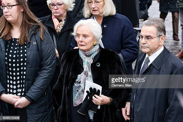 RuthMaria Kubitschek attends the Wolfgang Rademann memorial service on February 11 2016 in Berlin Germany