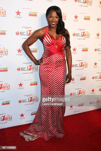 Rutina Wesley attends The Red Dress Fashion Show during Fall 2014 Mercedes Benz Fashion week on February 6 2014 in New York City