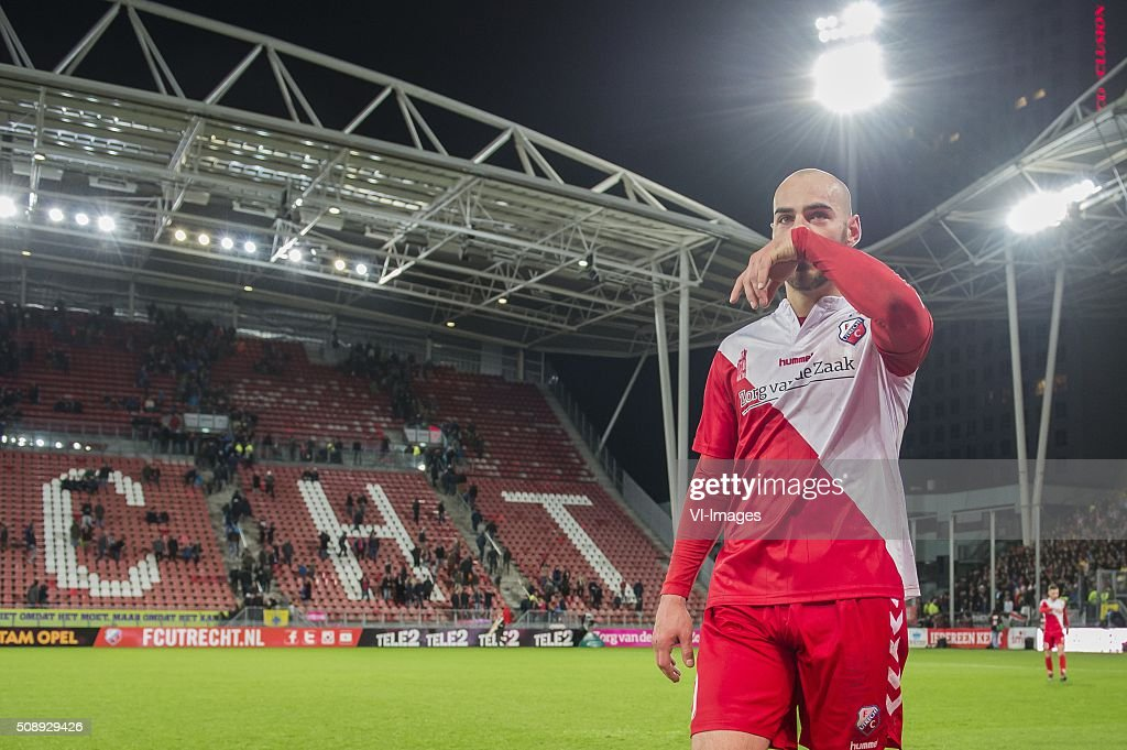 Ruud Boymans of FC Utrecht during the Dutch Eredivisie match between FC Utrecht and PSV Eindhoven at the Galgenwaard Stadium on February 07, 2016 in Utrecht, The Netherlands