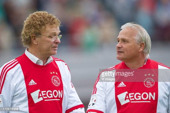 Ruud Geels Peter Boeve during the Sjaak Swart 75th anniversary match ...