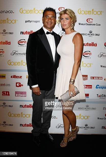 Ruud Gullit and wife Estelle Cruijff attend the Golden Foot Ceremony Awards on October 10 2011 in Monaco Monaco