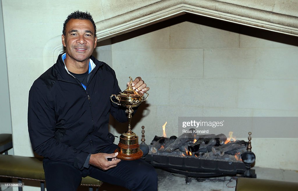 <a gi-track='captionPersonalityLinkClicked' href=/galleries/search?phrase=Ruud+Gullit&family=editorial&specificpeople=2104975 ng-click='$event.stopPropagation()'>Ruud Gullit</a> the former international footballer from The Netherlands pictured with the Ryder Cup before the offical handover of the Ryder Cup to The Gleneagles Hotel, the hosts of the 2014 event, at Gleneagles on October 3, 2012 in Auchterarder, Scotland.