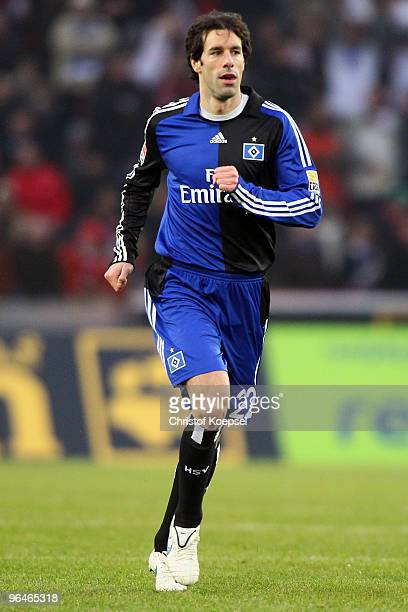 Ruud van Nistelrooy of Hamburg is seen during the Bundesliga match between 1 FC Koeln and Hamburger SV at the RheinEnergieStadion on February 6 2010...