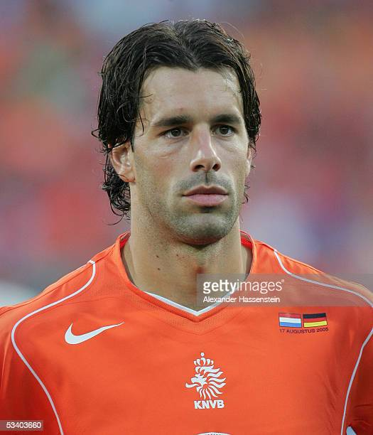 Ruud van Nistelrooy of Netherlands looks on during the international friendly match between Netherlands and Germany at the De Kuip Stadium on August...