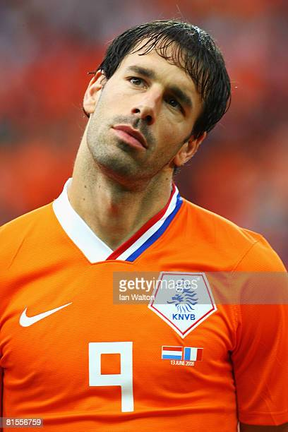 Ruud van Nistelrooy of Netherlands looks on during the UEFA EURO 2008 Group C match between Netherlands and France at Stade de Suisse Wankdorf on...