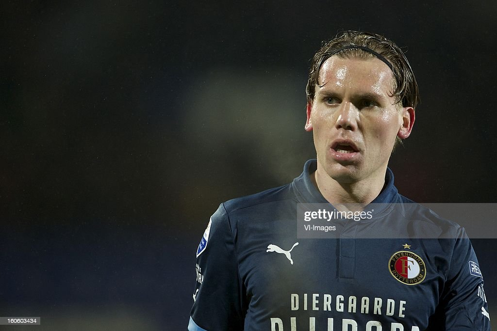 Ruud Vormer of Feyenoord during the Dutch Eredivisie match between Willem II and Feyenoord at the Koning Willem II Stadium on february 3, 2013 in Tilburg, The Netherlands