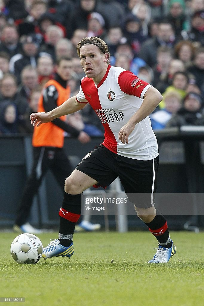 Ruud Vormer of Feyenoord during the Dutch Eredivisie match between Feyenoord and AZ Alkmaar at stadium De Kuip on february 10, 2013 in Rotterdam, The Netherlands