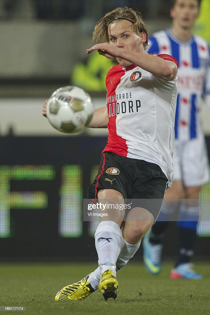 Ruud Vormer of Feyenoord during the Dutch Eredivisie match between SC Heerenveen and Feyenoord at the Abe Lenstra Stadium on march 30, 2013 in Heerenveen, The Netherlands