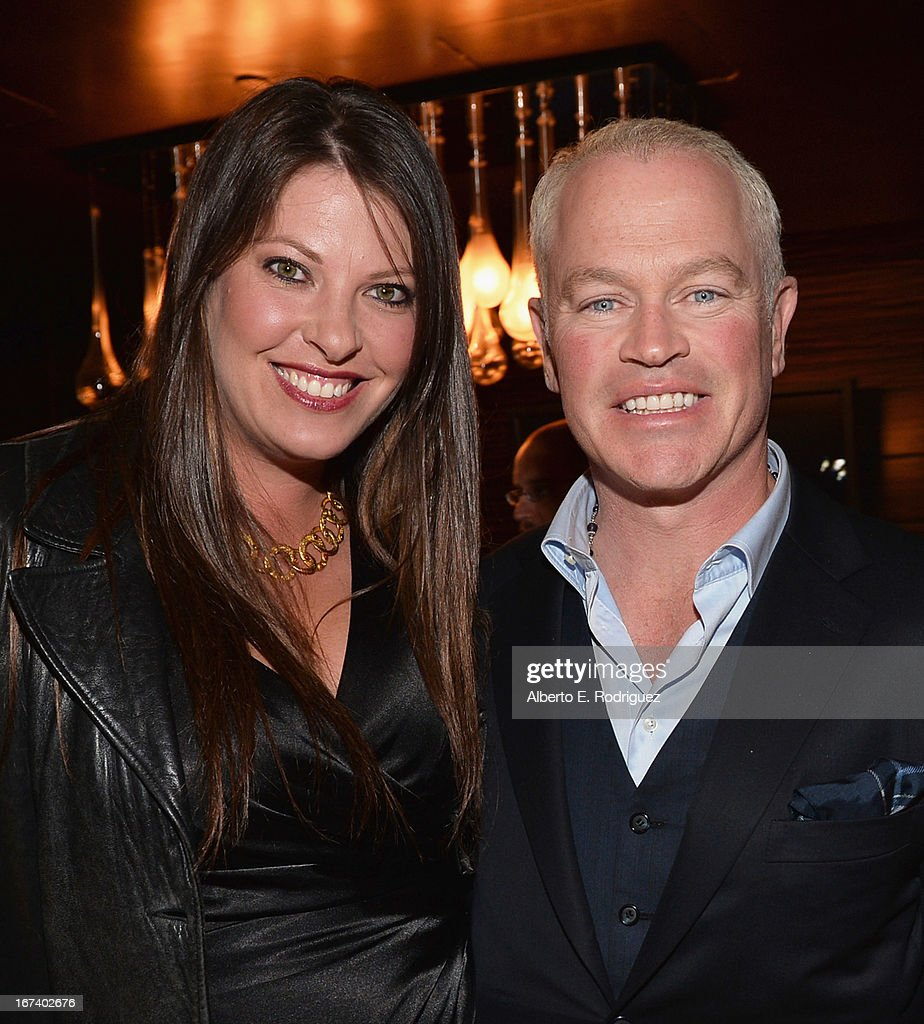 Ruve McDonough and actor <a gi-track='captionPersonalityLinkClicked' href=/galleries/search?phrase=Neal+McDonough&family=editorial&specificpeople=213199 ng-click='$event.stopPropagation()'>Neal McDonough</a> attend Marvel's Iron Man 3 Premiere after party at Hard Rock Cafe on April 24, 2013 in Hollywood, California.