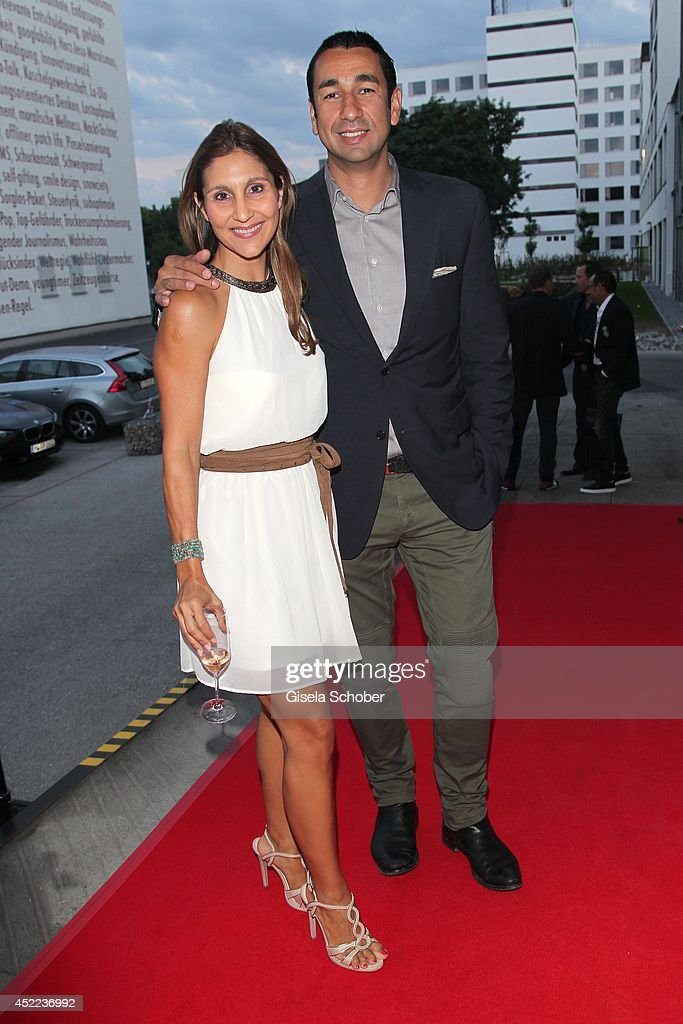 Ruxandra Nitschke and Kosta Kokmotos attend the Norbert Dobeleit 50th birthday party at Stromberg Kutchiin on July 16, 2014 in Munich, Germany.