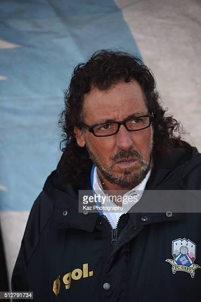 Ruy Ramos manager of FC Gifu during the JLeague second division match between Thespa Kusatsu Gunma and FC Gifu at the Shoda Shoyu Stadium Gunma on...
