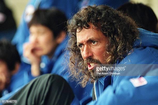 Ruy Ramos technical director of Okinawa Kariyushi FC is seen on January 20 2002 in Kasuga Fukuoka Japan