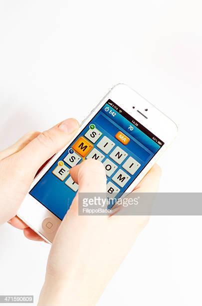 Ruzzle app on an iPhone 5
