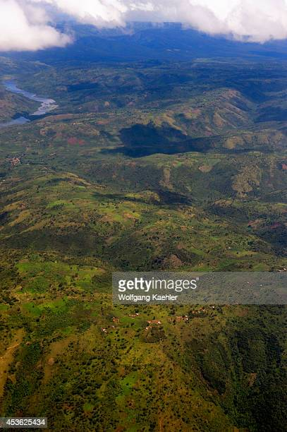 Rwanda Aerial View Of Landscape Near Kigali