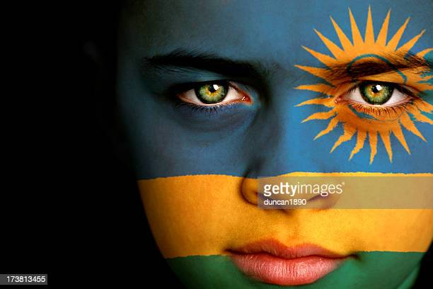 Rwanda flag boy