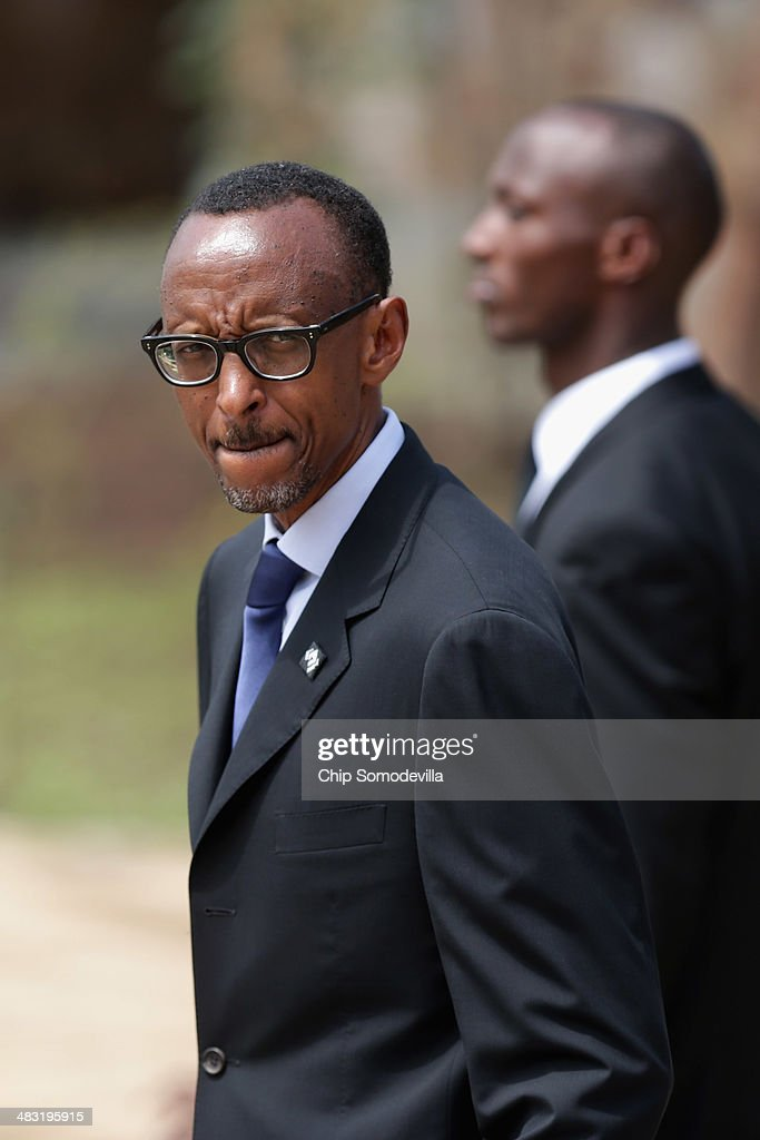 Rwanda President <a gi-track='captionPersonalityLinkClicked' href=/galleries/search?phrase=Paul+Kagame&family=editorial&specificpeople=601832 ng-click='$event.stopPropagation()'>Paul Kagame</a> arrives for a ceremony at the Kigali Genocide Memorial Center on April 7, 2014 in Kigali, Rwanda. Rwanda is commemorating the 20th anniversary of the country's 1994 genocide, when more than 800,000 ethnic Tutsi and moderate Hutus were slaughtered over a 100 day period.