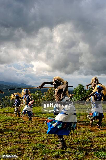 Rwanda Virunga Area Local Dance Group Performing Traditional Dances
