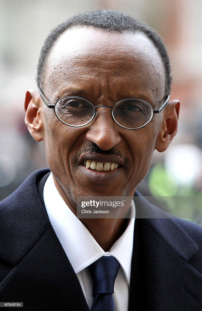 Rwandan President <a gi-track='captionPersonalityLinkClicked' href=/galleries/search?phrase=Paul+Kagame&family=editorial&specificpeople=601832 ng-click='$event.stopPropagation()'>Paul Kagame</a> arrives at the Commonwealth Observance Service at Westminster Abbey on March 8, 2010 in London, England.