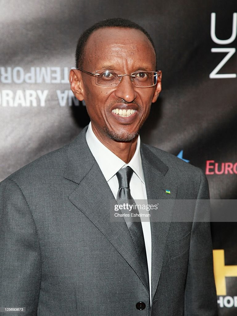 Rwandan President <a gi-track='captionPersonalityLinkClicked' href=/galleries/search?phrase=Paul+Kagame&family=editorial&specificpeople=601832 ng-click='$event.stopPropagation()'>Paul Kagame</a> attends the 'Haiti After The Earthquake' book launch at Urban Zen on September 20, 2011 in New York City.