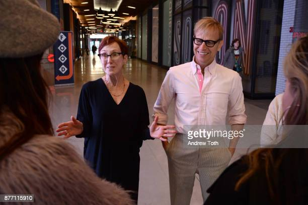 RxArt Founder and Executive Director Diane Brown and artist Will Cotton attend the City Point unveiling of the Will Cotton installation at City Point...