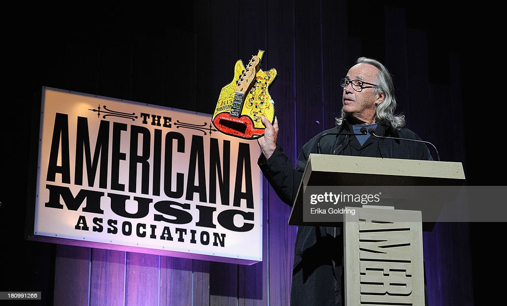Ry Cooder presents the Lifetime Achievement Award for an Executive at the 12th Annual Americana Music Honors And Awards Ceremony Presented By Nissan on September 18, 2013 in Nashville, Tennessee.