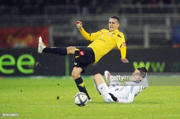 Ryad BOUDEBOUZ / Jeremy PIED Lyon / Sochaux 11eme journee de Ligue 1
