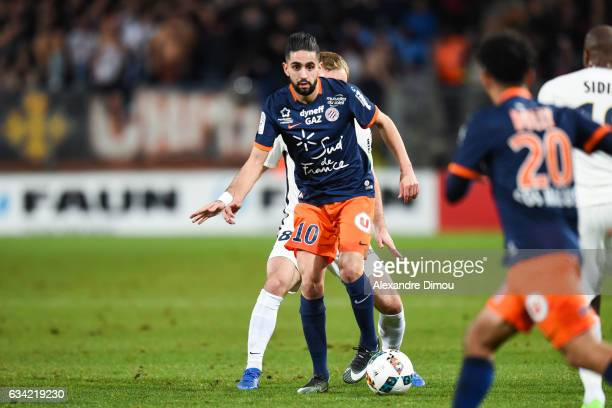 Ryad Boudebouz of Montpellier during the French Ligue 1 match between Montpellier and Monaco at Stade de la Mosson on February 7 2017 in Montpellier...