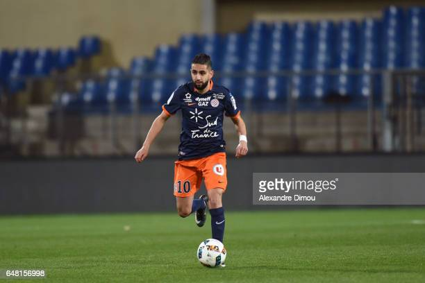 Ryad Boudebouz of Montpellier during the French Ligue 1 match between Montpellier and Guingamp at Stade de la Mosson on March 4 2017 in Montpellier...