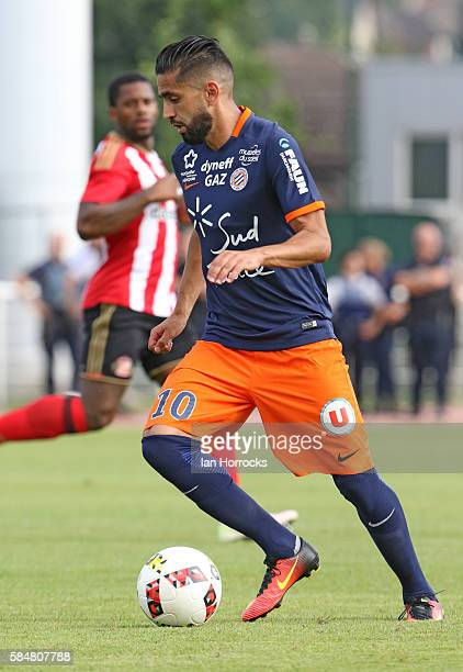 Ryad Boudebouz of Montpellier during the preseason friendly match between Sunderland AFC and Montpellier HSC at Stade Jacques Forestier on July 30...