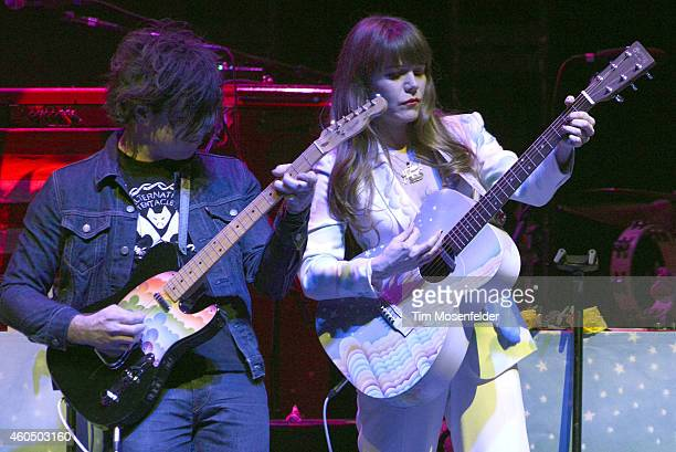 Ryan Adams and Jenny Lewis perform in support of Jenny's 'The Voyager' release at The Masonic on December 14 2014 in San Francisco California