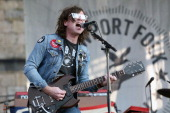 Ryan Adams performs during the 2014 Newport Folk Festival at Fort Adams State Park on July 25 2014 in Newport Rhode Island