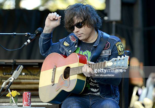 Ryan Adams performs during the 29th Annual Bridge School Benefit at Shoreline Amphitheatre on October 25 2015 in Mountain View California