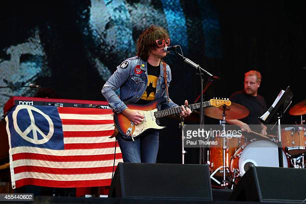 Ryan Adams performs during the Jaguar Land Rover Invictus Games Closing Ceremony at the South Lawn of Queen Elizabeth Olympic Park on September 14...