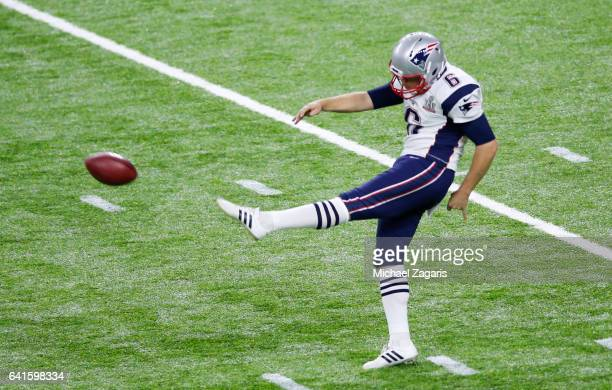 Ryan Allen of the New England Patriots punts during Super Bowl 51 against the Atlanta Falcons at NRG Stadium on February 5 2017 in Houston Texas