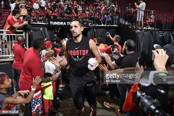 Ryan Anderson of the Houston Rockets participates in the team's annual Fan Fest event on October 7 2017 at the Toyota Center in Houston Texas NOTE TO...