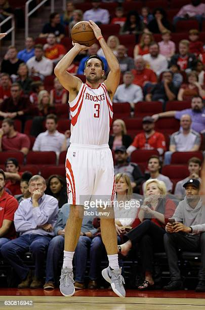 Ryan Anderson of the Houston Rockets shoots a threepoint shot against the Washington Wizards at Toyota Center on January 2 2017 in Houston Texas NOTE...