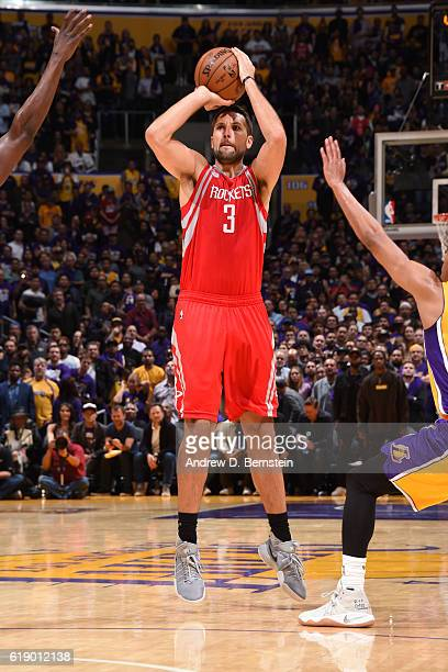 Ryan Anderson of the Houston Rockets shoots the ball against the Los Angeles Lakers on October 26 2016 at STAPLES Center in Los Angeles California...