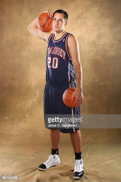 Ryan Anderson of the New Jersey Nets poses for a portrait during the 2008 NBA Rookie Photo Shoot on July 29 2008 at the MSG Training Facility in...